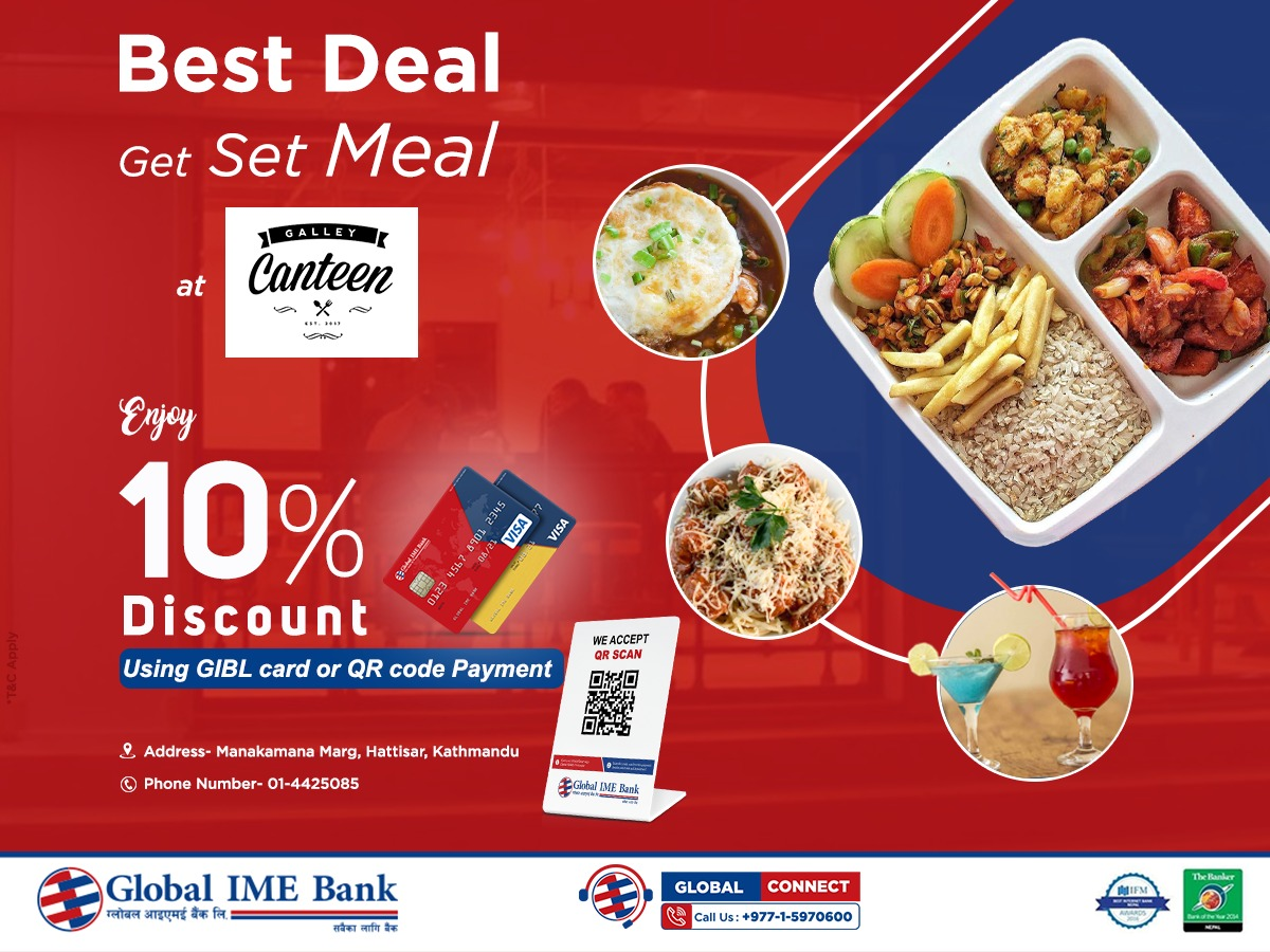 Up to 10% discount at Galley Canteen using Cards or QR Code Payment