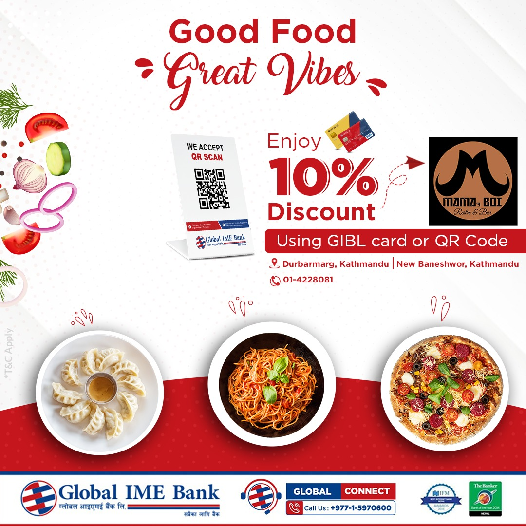 Up to 10% discount at Mama's Boi using Cards or QR Code Payment